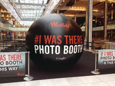 Google+ photo booth in Westfield Stratford City