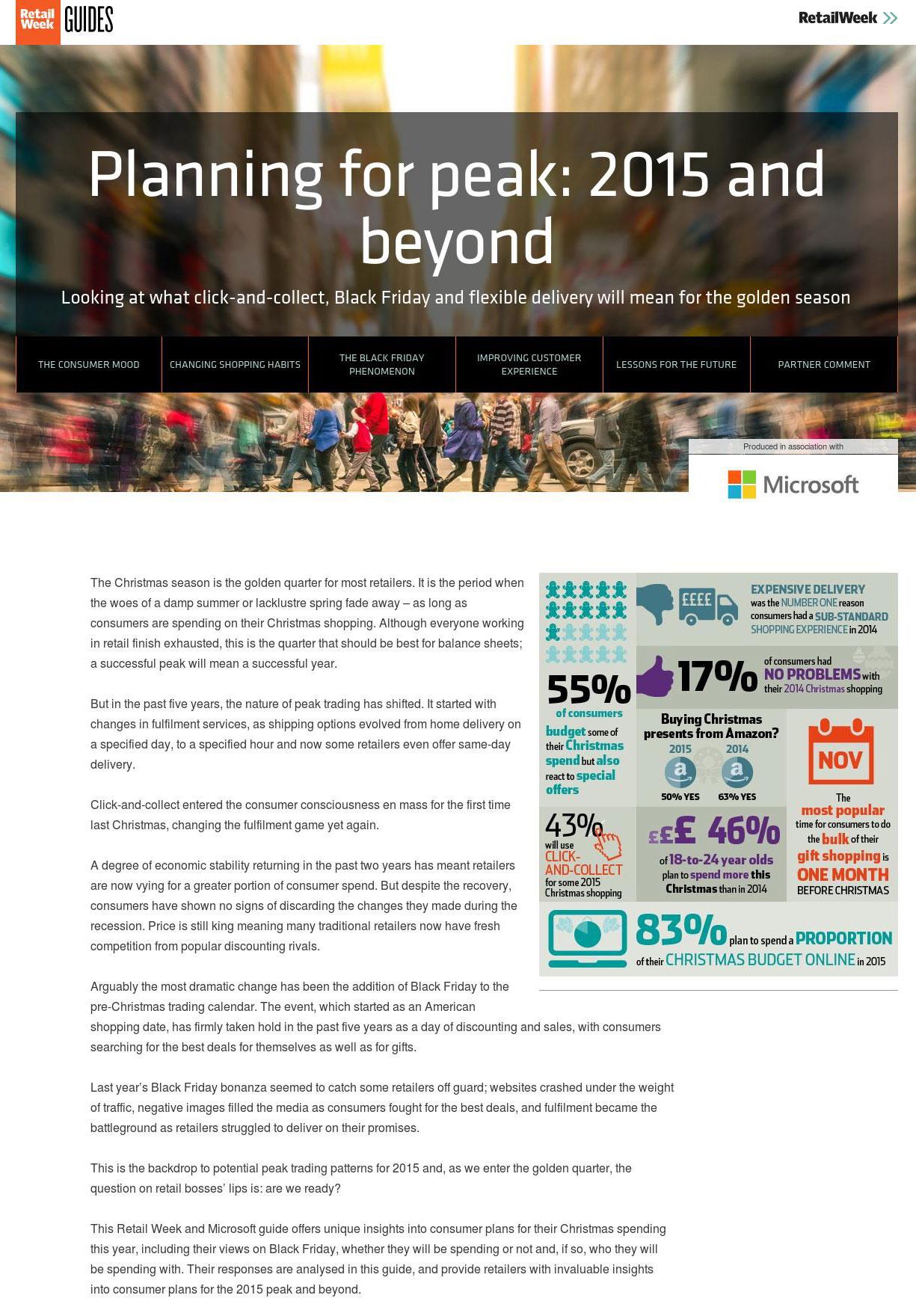 Microsoft Planning for Peak