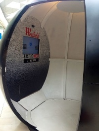 Inside the Google+ photo booth in Westfield Stratford City