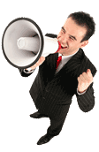 Image of man with megaphone