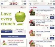 The Tesco grocery app welcomes users by name and links up all the Tesco businesses, such as Clubcard details, Tesco Direct and Blinkbox, to allow effective cross-selling.