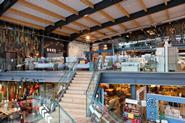 The store's 48,270 sq ft covers two floors and was inspired by retailers in New York and Paris.