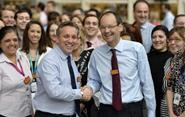 Sainsbury\'s chief executive Justin King is handing over the reigns to incoming boss Mike Coupe