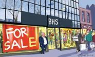 Retail Week\'s cartoonist Patrick Blower\'s take on Arcadia boss Philip Green looking for prospective buyers of fashion retailer BHS.