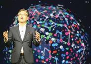 Samsung boss BK Yoon delivers the keynote address at this year's CES in Las Vegas