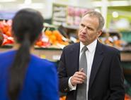 Tesco boss Dave Lewis announced massive losses at the grocer