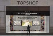 Topshop\'s window installation for London Fashion Week