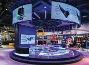 Sun & Sand Sports\' central area features an impressive array of digital displays
