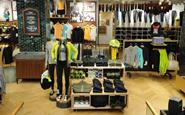 The Lululemon store stocks a wide array of work-out gear