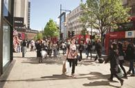 Britain's high streets fought back against shopping centres during the bank holiday weekend as hundreds of seaside day-trippers boosted footfall.