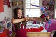 The Nerf Rebelle Agent Bow is being marketed at girls as well as boys and is no doubt set to appeal to both following the popularity of the bow-toting Jennifer Lawrence in the Hunger Games film.