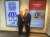 High Streets minister Marcus Jones and Argos chief executive John Walden