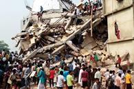 Disaster: more than 400 lives were lost in the Rana Plaza collapse. The factory was being used by Primark and Mango