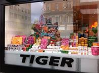 Tiger shop window on Oxford Street