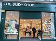 The Body Shop recorded a sales fall in its first quarter which it blamed on difficult trading in the UK and Asia.