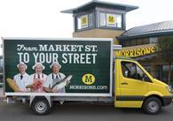 Morrisons delivery van for its online grocery launch