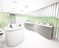 Clinique\'s pop-up store has a series of interactive pods
