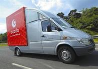Ocado has moved into the black in its first half, generating 7.5m pre-tax profit before exceptionals from a loss last year.