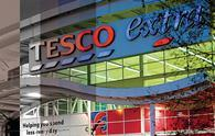 Grocery giant Tesco is beginning to feel the benefits of its recovery programme despite a further sales fall in the first quarter.