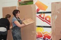 Liz Morrell at a recent B&Q plastering class