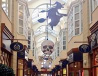 A shopping centre Halloween display.
