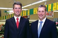 Roman Heini (left) is to return to Germany and Matthew Barnes becomes chief executive of Aldi UK and Ireland