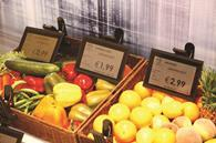 Electronic shelf-edge displays can be updated with information centrally