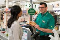 Morrisons has reintroduced staffed express checkouts to its supermarkets