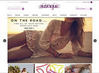 Austique designer boutique website homepage