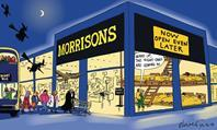 Retail Week's cartoonist Patrick Blower's take on Morrisons latest bid to attract more shoppers with dawn-to-dusk opening hours.