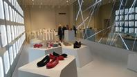 Melissa really is gallery as much as store and the way in which the plastic 'jelly' shoes, the retailer's stock in trade, are shown off owes a lot to contemporary art.