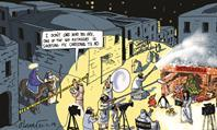 Retail Week's cartoonist Patrick Blower's take on the big retailers' effort to create the ultimate Christmas advert this year.