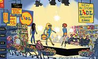 Blower's retail cartoon: Lidl launches womenswear fashion range