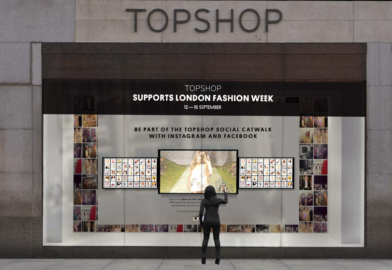 topshop creates a social catwalk for london fashion week applications