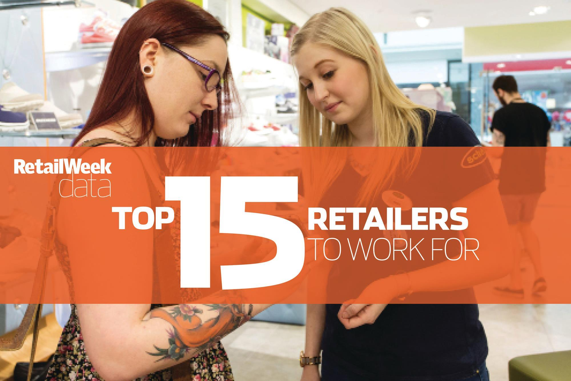 data the best retailers to work for in the uk according to the 15 best retailers to work for in the uk in 2015 according to employees