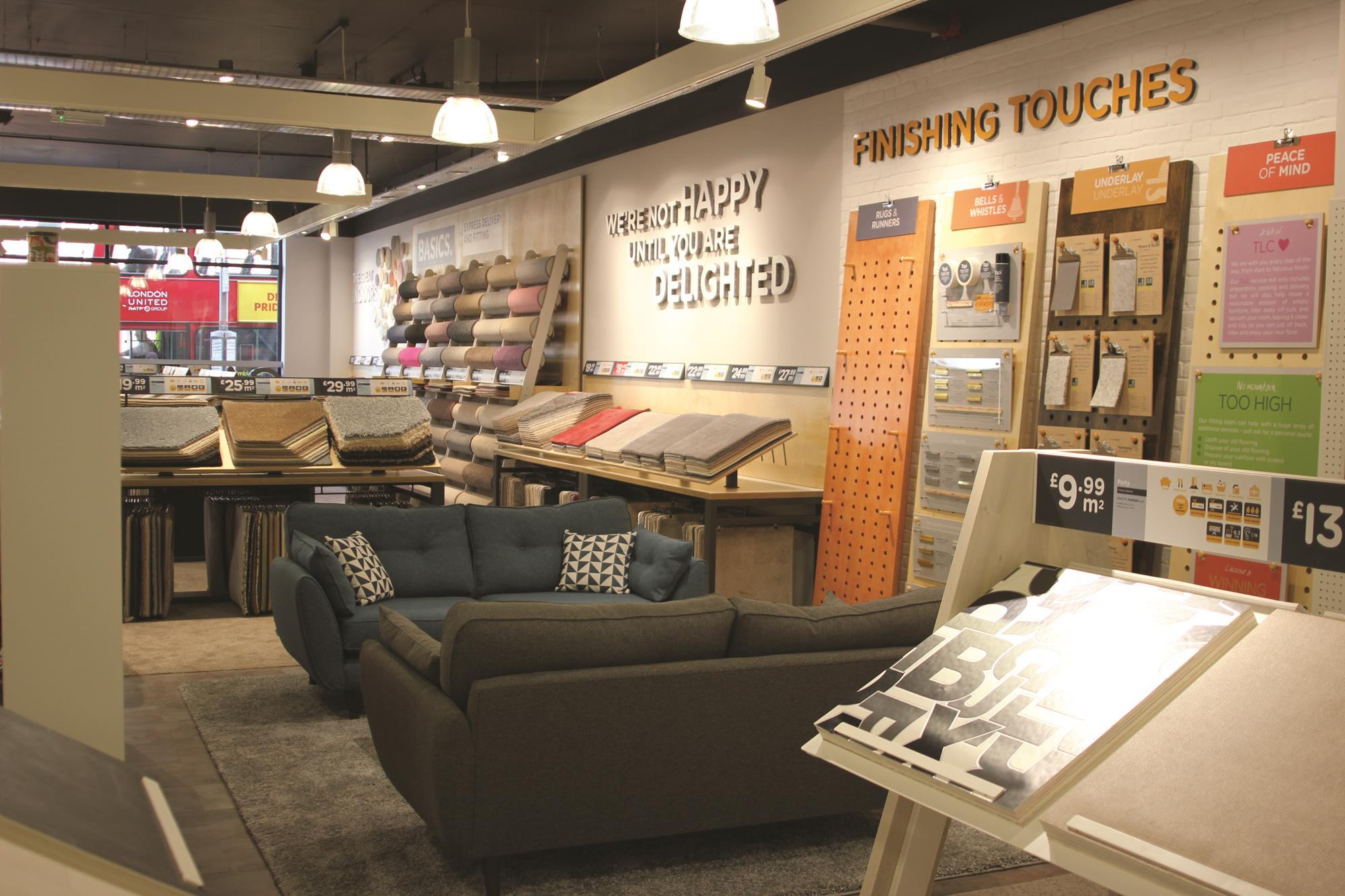 In pictures son of carpetright founder lord harris for Home flooring stores