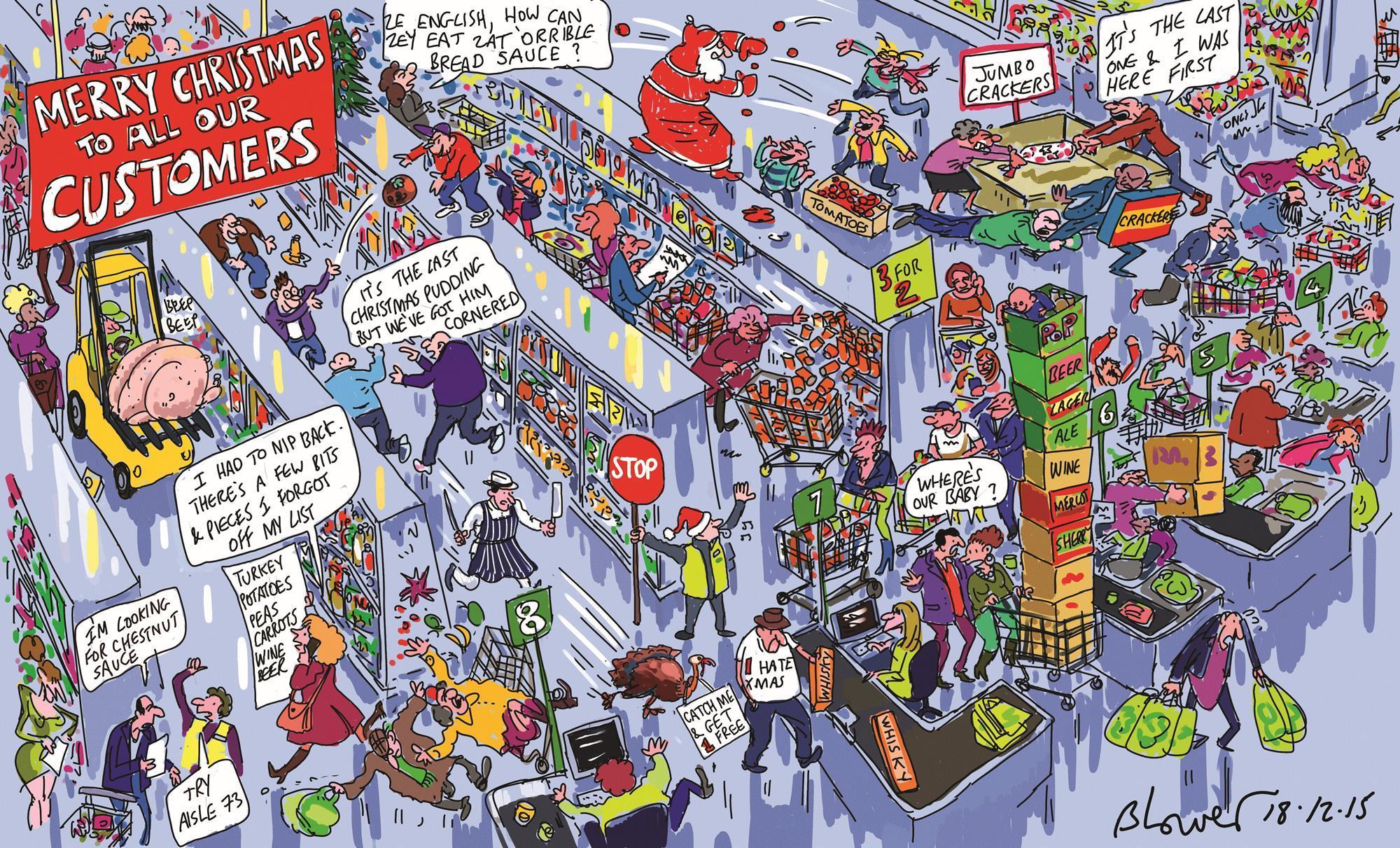 blower u0027s retail cartoon the last minute retail rush to christmas