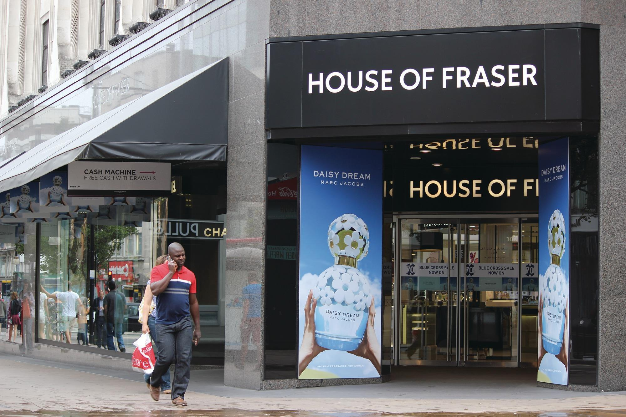 House of fraser plans challenger bank partnership news for Housse of fraser