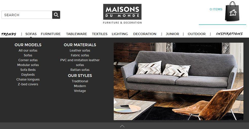 maisons du monde uk stores part of maisons du mondeus collections at a glance maisons du monde. Black Bedroom Furniture Sets. Home Design Ideas