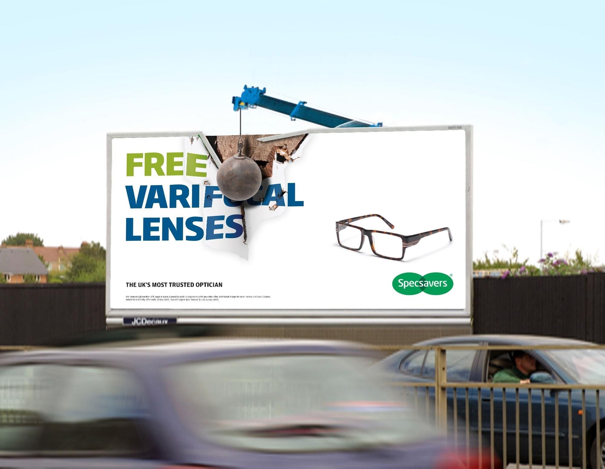 specsavers re creates its tv ad across billboards news retail week