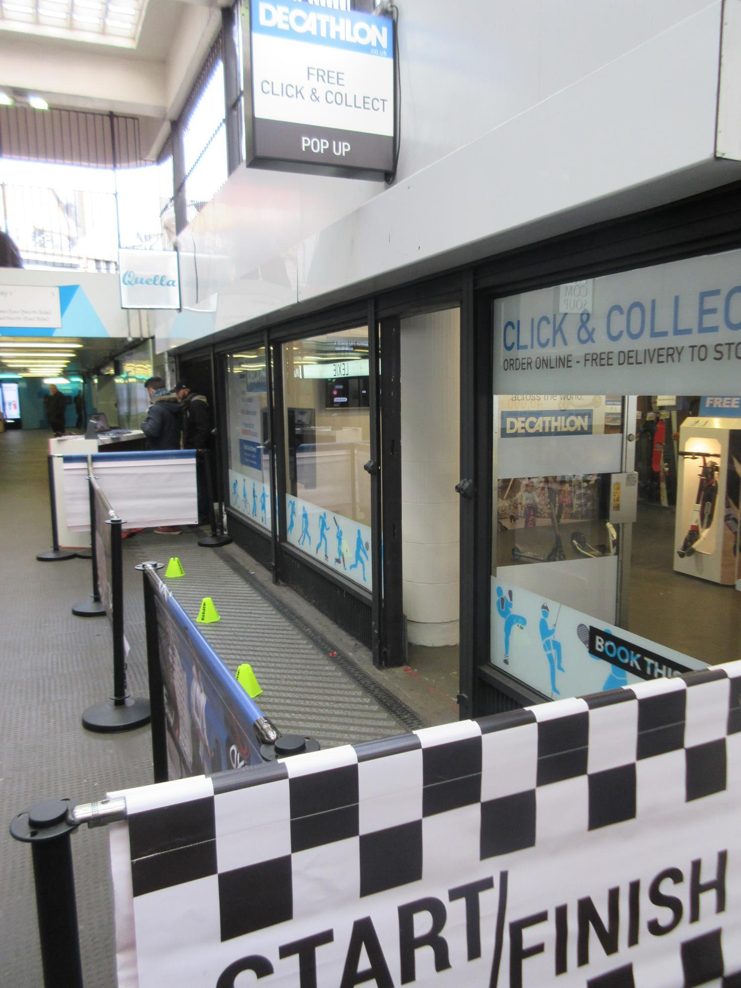store gallery decathlon tests first click and collect store in london tube station news. Black Bedroom Furniture Sets. Home Design Ideas