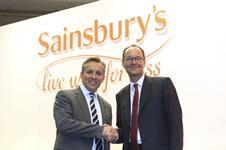 Justin King and Mike Coupe at the Sainsbury AGM 2014
