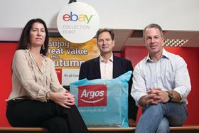Tanya Lawler with John Walden following the signing of the eBay and Argos tie-up in 2013