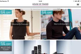 House of fraser app