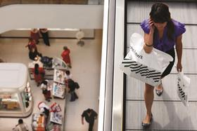 Footfall slumped across the Black Friday weekend as consumers continued to take advantage of flash sales online rather than visiting stores.