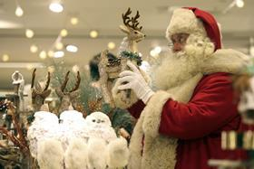 The Christmas shop is in its Oxford Street flagship