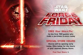 Disney partnered retailers and licensees for a global Force Friday event
