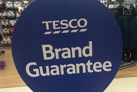 "Tesco's advertising for its Brand Guarantee price matching scheme has been banned after being labelled ""misleading"" by watchdogs."