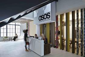 Asos has unveiled an 18% jump in half-year pre-tax profits as retail sales and mobile traffic soared during the period.