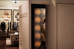 The retailer is encouraging customers to try the interactive booth at its Regent Street store